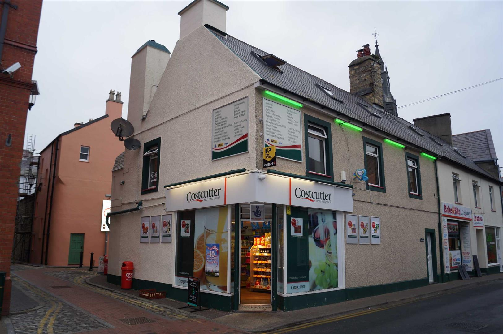Convenience Store, Cafe & Flat, Penlan Street, Pwllheli - £200,000/Offers over